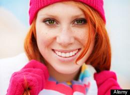 Cute fashion girl wearing winter clothing