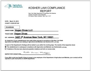 Image Certificate Kosher